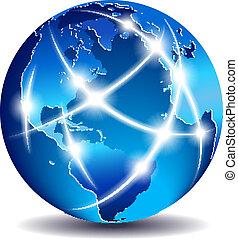 통신, 세계, 세계, 상업