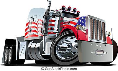 트럭, 만화, 세미트레일러