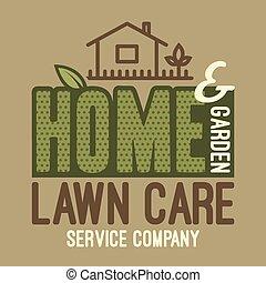 티셔츠, 가정, 잔디, 정원, 걱정
