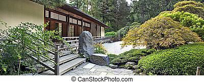 파노라마, 관람석, 정원 일본어