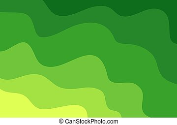 파도, 배경., 녹색의 발췌