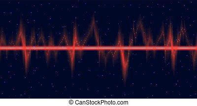 파도, 소리, 전류를 고주파로 변환시키는, 백열