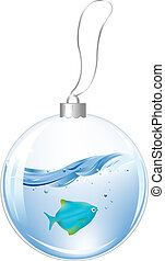 파랑 공, fish, 물, 년, 새로운