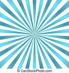 파랑, 광선, 별 파열, 포스터, 백색