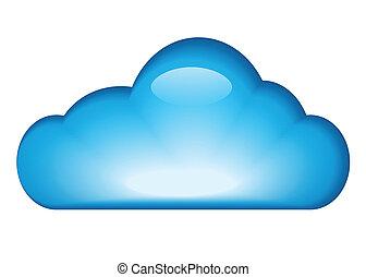 파랑, 광택 인화, 구름
