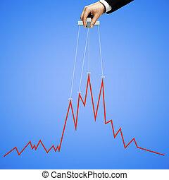 파랑, 그래프, 조작하는 것