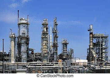 파랑, 기름, 하늘, 산업, 금속, 지평선, 설치