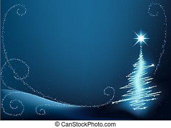 파랑, 나무, 크리스마스
