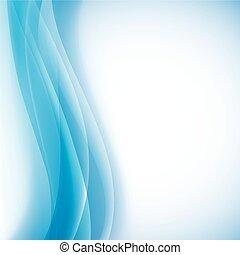 파랑, 몇 겹으로 겹쳐지는 것, 빛, 벡터, 배경, waves.