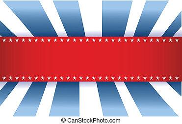 파랑, 미국 기, 백색, 디자인, 빨강