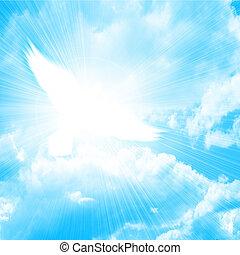 파랑, 비둘기, 백열하는 것, 하늘