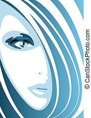 파랑 얼굴