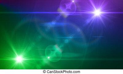 파랑, 제왕의, 너울거리다, 렌즈, 쌍둥이, 빛