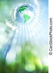 파랑, 지구, 녹색의 배경