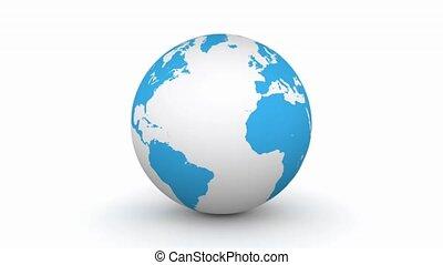 파랑 지구, 선반 세공, 3차원