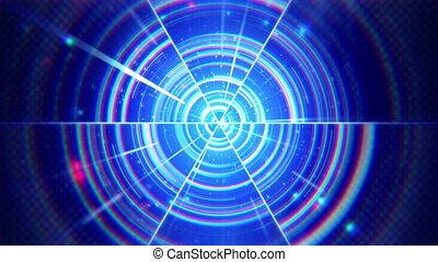 파랑, 집중적인, techno, 세그먼트, 고리