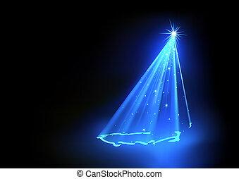 파랑, 크리스마스 나무, 떼어내다