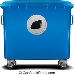 파랑, 큰 상자, 재활용