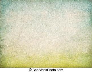 파랑, 포도 수확, 떼어내다, 하늘, 종이, 녹색의 배경, 풀
