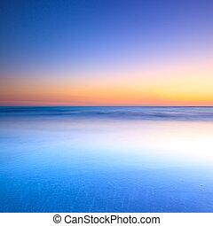 파랑, 황혼, 대양, 일몰, 백색 바닷가