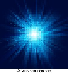 파랑, 10, 별 파열, effect., 너울거리다, eps, 깊다, 빛 폭발, 투명한, 백열