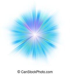 파랑, 8, 밝은, star., eps