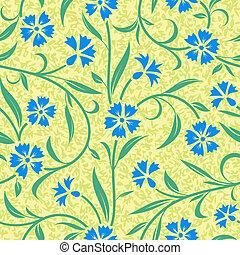 파랑, cornflower, 떼어내다, seamless, 배경