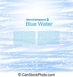 파랑, illustration., 물, 벡터, 배경, reflections.