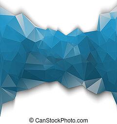 파랑, poligonal