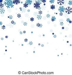 파랑, snowflakes., 눈이 듯한
