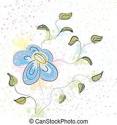 파스텔, 꽃, 봄