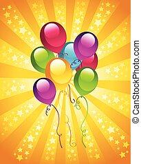파티, 생일, 기구