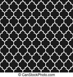 패턴, 검정, seamless, 이슬람교, 백색