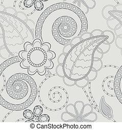 패턴, 배경, seamless, 꽃의