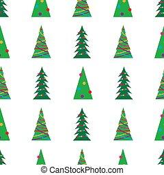 패턴, 크리스마스 나무, 녹색, seamless