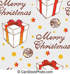 패턴, 크리스마스 선물, seamless