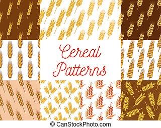 패턴, 호밀, 밀, 곡물, 귀
