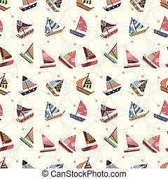 패턴, seamless, 범선