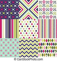 패턴, seamless, 직물, 직물