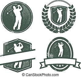 포도 수확, 골프, 로고