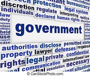포스터, 개념, 정부