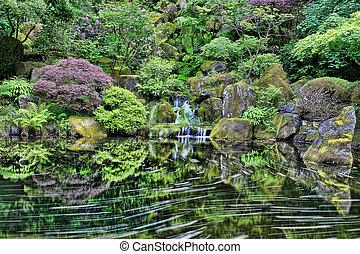 포틀랜드, 폭포, 정원 일본어