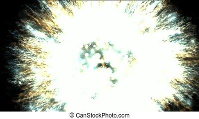 폭발, 송이, 은하