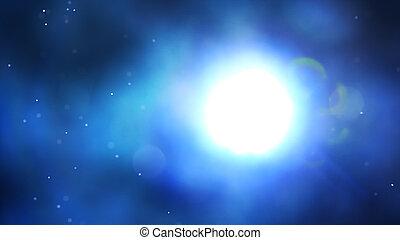 푸른 배경, 빛, 떼어내다