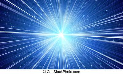 푸른 배경, 은 주연시킨다, 빛, 빛나는, 광선