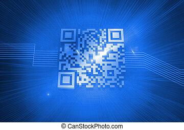 푸른 배경, barcode