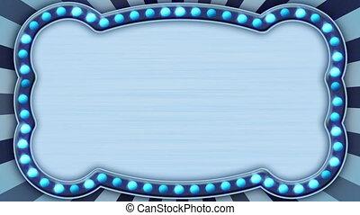 푸른 빛, 플래시, 고리, 큰 천막