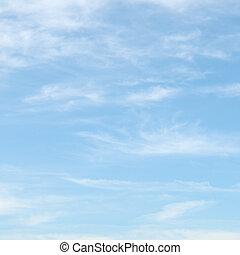 푸른 하늘, 구름, 빛