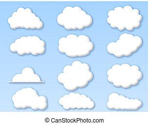 푸른 하늘, 구름, 흐린