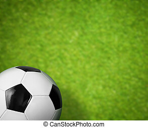 풀밭, 공, 녹색의 배경, 축구